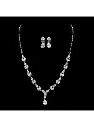 Jewelry Sets Alloy/Zircon Cubic Zirconia Lobster Clasp Ladies' Wedding & Party Jewelry
