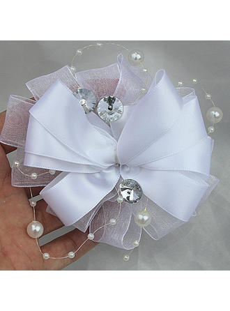 "Boutonniere Free-Form Wedding/Party/Casual Satin 2.76""(Approx.7cm) Wedding Flowers"