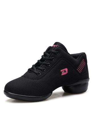 Women's Sneakers Sneakers Fabric With Lace-up Dance Shoes
