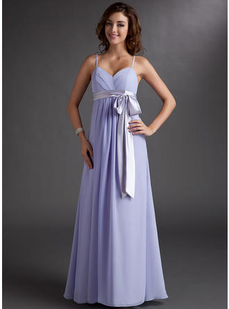 Empire Floor-Length Chiffon General Plus Bridesmaid Dresses