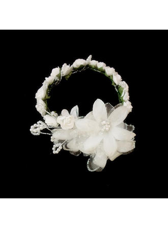 "Flowers & Feathers/Headbands Wedding/Special Occasion Satin/Paper 7.87""(Approx.20cm) 1.57""(Approx.4cm) Headpieces"