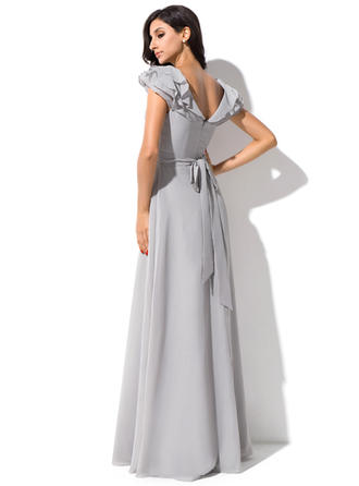 long bridesmaid dresses sleeveless chiffon lace