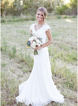 chiffon wedding dresses for bride