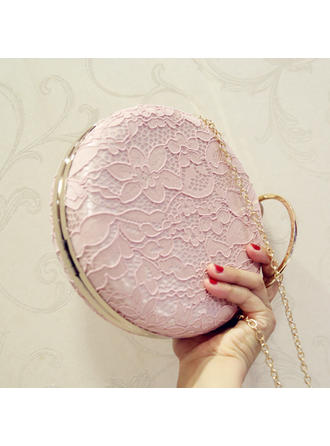 Clutches Wedding/Ceremony & Party Polyester/Embroidery Push-lock frame closure Elegant Clutches & Evening Bags