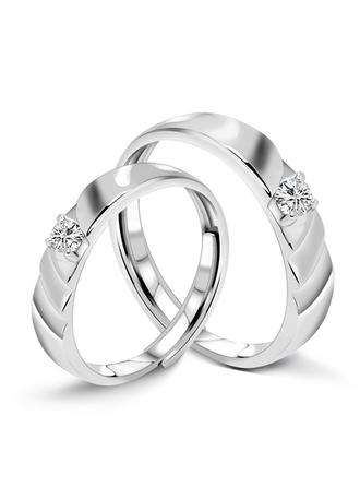 Rings 925 Sterling Silver Couples' Classic Wedding & Party Jewelry
