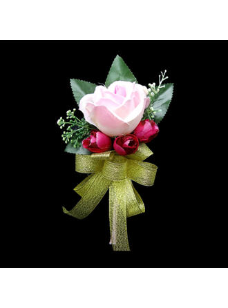 "Boutonniere Free-Form Wedding/Party Satin 5.91""(Approx.15cm) Wedding Flowers"
