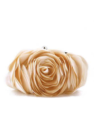 Clutches Wedding/Ceremony & Party Polyester Clip Closure Attractive Clutches & Evening Bags