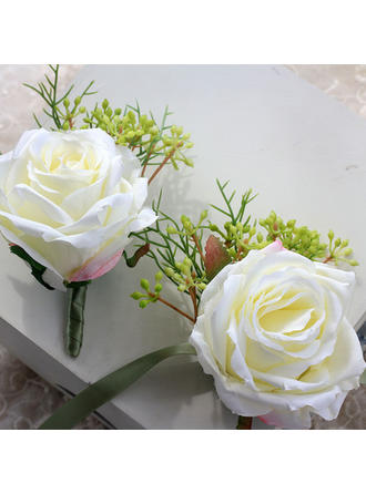 "Wrist Corsage/Boutonniere Wedding Ribbon 5.12""(Approx.13cm) The color of embellishments are shown as picture/Color & Style representation may vary by monitor/Not responsible for typographical or pictorial errors. Wedding Flowers"