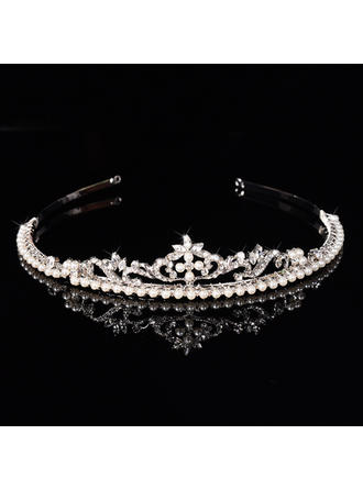 "Tiaras Wedding/Special Occasion Rhinestone/Alloy/Imitation Pearls 1.18""(Approx.3cm) 6.3""(Approx.16cm) Headpieces"