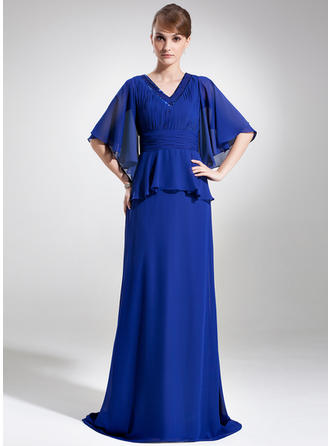 Simple Chiffon V-neck A-Line/Princess Mother of the Bride Dresses
