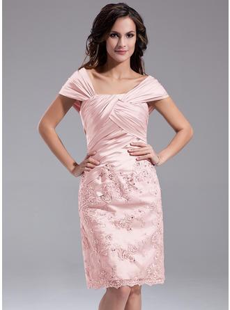 Modern Off-the-Schulter Etui-Linie Charmeuse Kleider für die Brautmutter