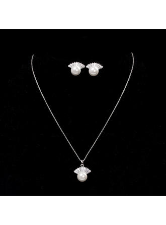 Jewelry Sets Alloy Cubic Zirconia Lobster Clasp Ladies' Wedding & Party Jewelry