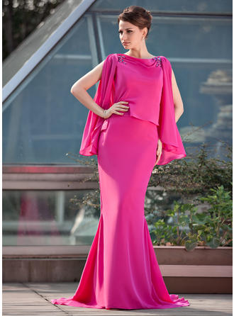 Trumpet/Mermaid Scoop Neck Chiffon Glamorous Mother of the Bride Dresses