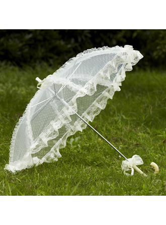 Wedding Umbrellas Bridal Parasols Women's Wedding Hook Handle Wedding Umbrellas