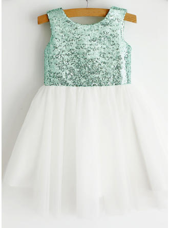Tulle Ball Gown Sequins Newest Flower Girl Dresses