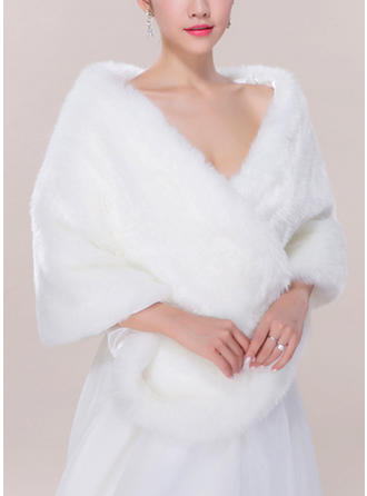Wrap Fashion Faux Fur Acrylic Other Colors Wraps