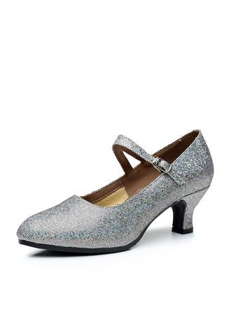 Women's Character Shoes Pumps Sparkling Glitter Dance Shoes