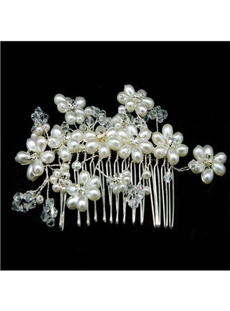 Exquisite Crystal/Imitation Pearls Combs & Barrettes (Sold in single piece) (042137981)