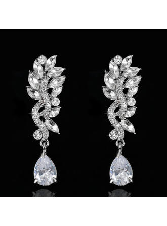 Earrings Zircon Pierced Ladies' Shining Wedding & Party Jewelry