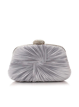 Clutches Ceremony & Party Suede Magnetic Closure Elegant Clutches & Evening Bags (012188154)