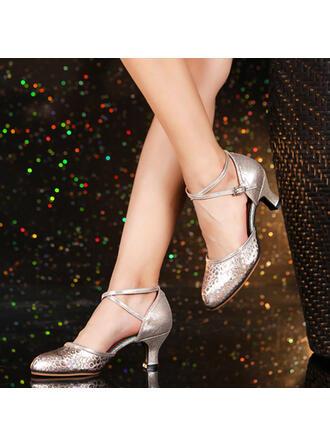 Women's Ballroom Swing Heels Leatherette Dance Shoes