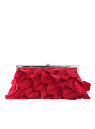 Clutches Ceremony & Party Silk Clip Closure Gorgeous Clutches & Evening Bags