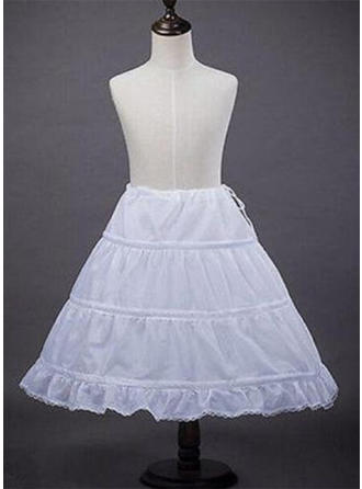 Bustle Tea-length Satin A-Line Slip/Flower Girl Slip 1 Tiers Petticoats (037190853)