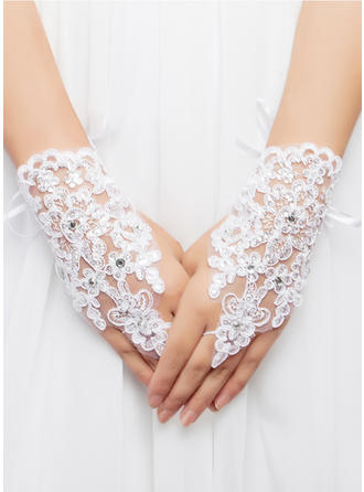 Lace/Voile Ladies' Gloves Wrist Length Bridal Gloves Fingerless Gloves (014062350)