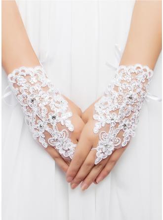 Blonder/Voile Wrist Længde Brude Handsker