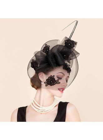Cambric With Rhinestone Fascinators Beautiful Ladies' Hats