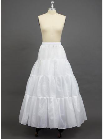 Petticoats Floor-length Taffeta A-Line Slip 2 Tiers Petticoats