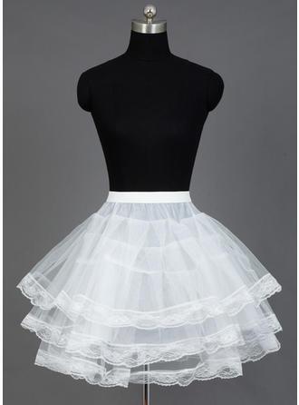 Petticoats Short-length Nylon/Tulle Netting A-Line Slip/Full Gown Slip/Flower Girl Slip/Half Slip/Short Flare Slip 3 Tiers Petticoats