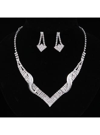 Elegante Aleación/Diamantes de imitación De mujer/Señoras' Sistemas de la joyería