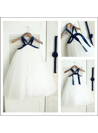 Forme Princesse Sans manches Robe de demoiselle d'honneur - fillette