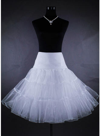 Bustle Tea-length Tulle Netting/Satin A-Line Slip 2 Tiers Petticoats (037117078)