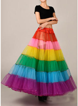 Bustle Ankle-length Tulle Netting/Satin Ball Gown Slip 2 Tiers Petticoats (037190861)