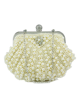 Clutches Wedding/Ceremony & Party Pearl Clip Closure Gorgeous Clutches & Evening Bags