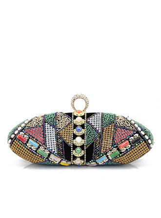 Unique Suede/Beading Clutches