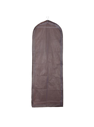 Garment Bags Gown Length Side Zip Tulle/PVC Chocolate Wedding Garment Bag