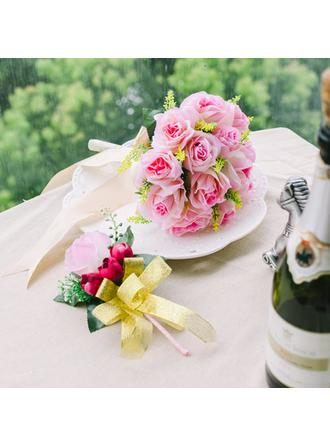 "Flower Sets Round Wedding Satin 8.66""(Approx.22cm) Wedding Flowers"