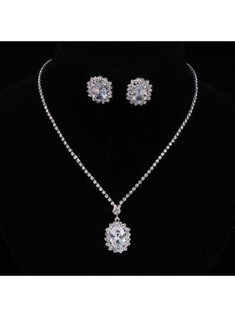 Jewelry Sets Alloy/Rhinestones/Zircon Lobster Clasp Pierced Ladies' Wedding & Party Jewelry