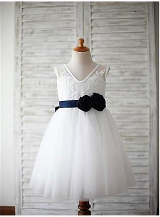 cheap white flower girl dresses