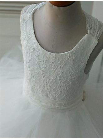 long tulle flower girl dresses