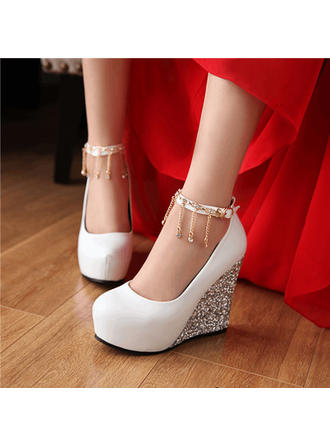 Women's Wedge Heel Leatherette No Wedding Shoes