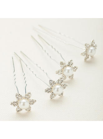 "Hairpins Wedding/Special Occasion/Party Crystal/Alloy 0.78""(Approx.2cm) 0.78""(Approx.2cm) Headpieces"