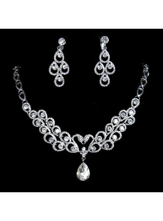 Elegant Alloy/Rhinestones Women's Jewelry Sets