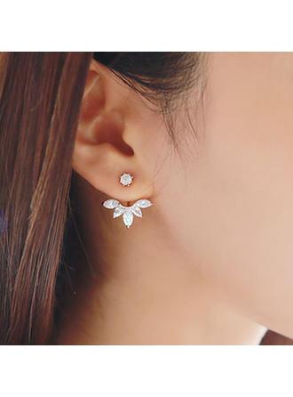 Härlig Legering Damer' örhängen