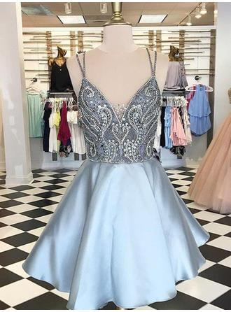 Magnificent Homecoming Dresses A-Line/Princess Short/Mini V-neck Sleeveless