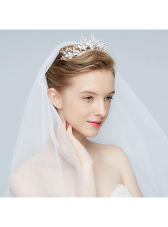 Beautiful Alloy Tiaras With Rhinestone/Crystal (Sold in single piece) (042150817)