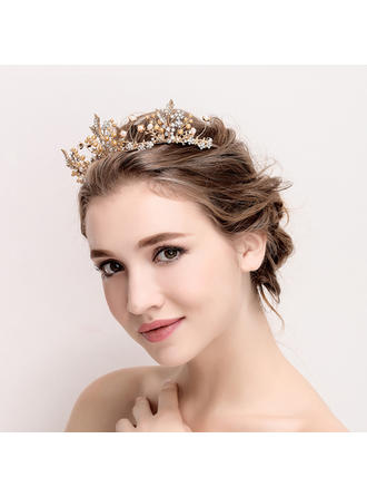 "Tiaras Wedding/Special Occasion Alloy/Imitation Pearls 14.17""(Approx.36cm) 1.77""(Approx.4.5cm) Headpieces"